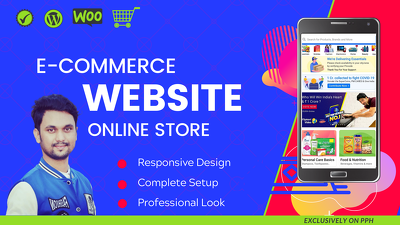 Build eCommerce website, multi vendor eCommerce marketplace