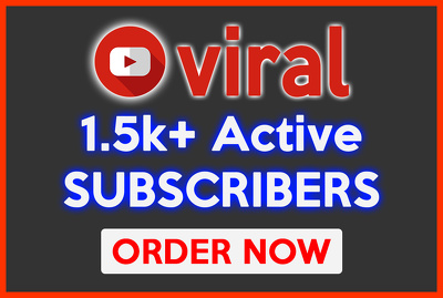 Promote your channel to get 2.5k YouTube subscribers