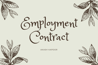 Expertly and competently draft an employment contract