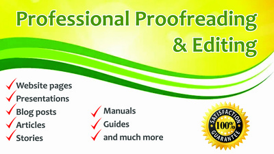 Proofread and edit your document consisting of 500 words