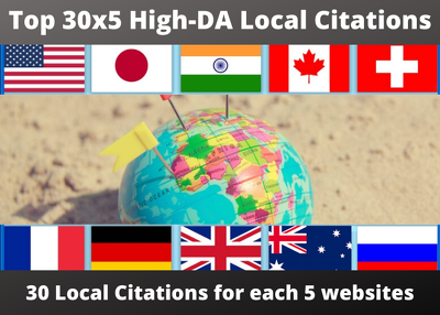 Manually Add Your Business On 30 High-DA Local Citations