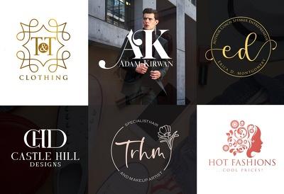 Design luxury fashion, beauty, clothing brand logo