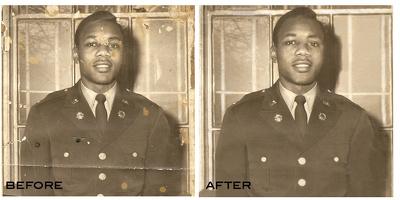 Restoration - Retouching  One Old Photo