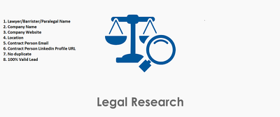 5000 Legal Lead Like (Barrister, Lawyer, Paralegal, etc)