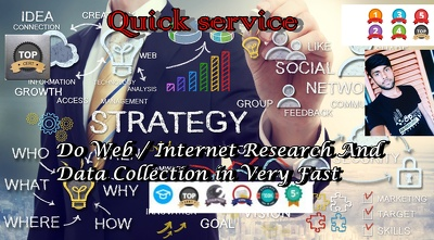Do Web / Internet Research And Data Collection in 1hour