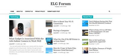 publish a Guest Post on elgforum/elgforum.com DA 22