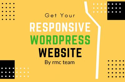 Develop modern clean wordpress website design