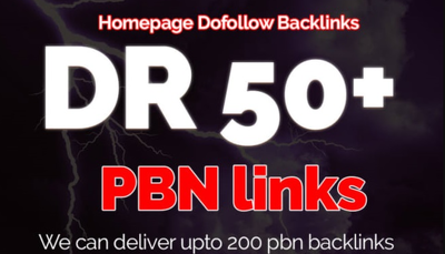 Build 3 Permanent DR 50+ Homepage Dofollow Backlinks