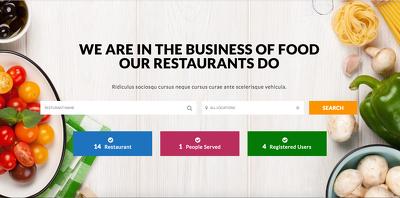 Design food delivery website