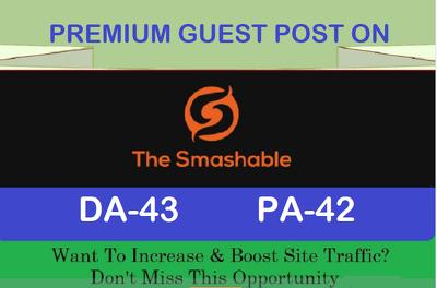 write and Publish Premium Guest Post on thesmashable.com
