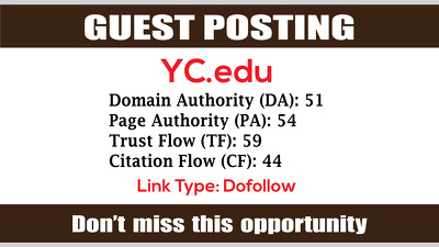 write & Publish Guest Post on YC, YC.edu DA51 - Dofollow Links