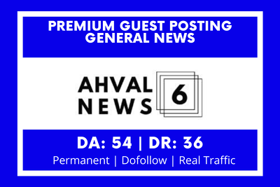 Guest posting on news website DA 54 DR 36
