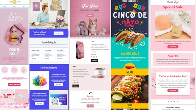 Responsive Email Template/HTML template or Mailchimp Newsletter