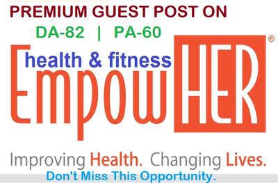 Publish Guest Post on Health & Wellness Site empowher.com