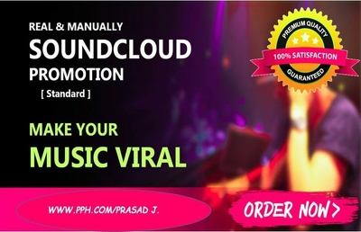 Do promotion for your soundcloud music