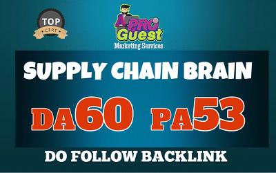 Provide a UNIQUE Guest Post on SupplyChainBrain.com