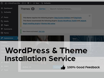 Install WordPress theme like a demo content