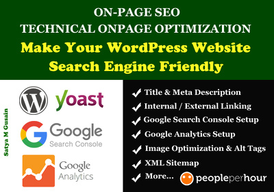 do On Page SEO and Technical SEO Optimization of WordPress Site
