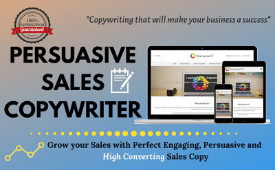 Write sales copy using persuasive copywriting techniques