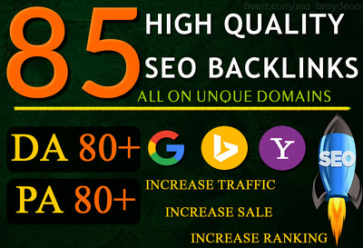 do 85 UNIQUE PR9 SEO BackIinks on DA100-60 sites Plus Edu Links