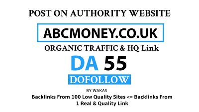 Guest Post on ABCmoney – ABCmoney.co.uk DA 55 Do Follow Link