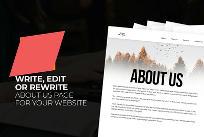 Write a 250 Words About Us Page