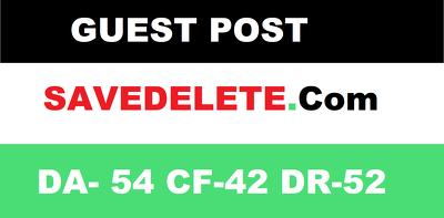 publish Guest Post on SaveDelete - SaveDelete.com - DA54