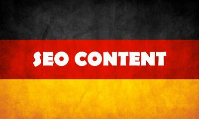 Write German SEO content, 500 words | TOP CERT Freelancer