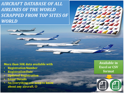 Provide Comprehensive Data of All Airlines With Aircraft's