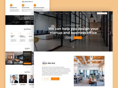 make a unique UI/UX design for your website / landing page