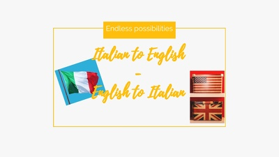 Translate up to 1000 words English to Italian and vice versa