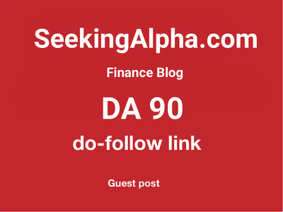 publish guest post on seekingalpha.com finance blog