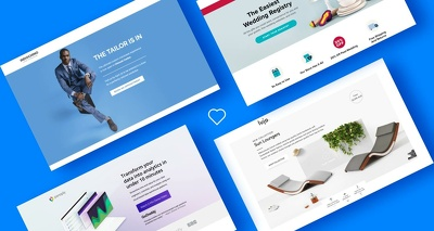design website homepage / landing page design for your business