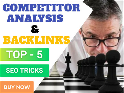 Analysis top 5 SEO competitors and give competitors backlinks