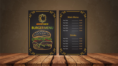Design Restaurant / Bar / Coffee shop menu