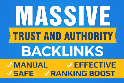 do white hat SEO with 100 high domain authority seo backlinks