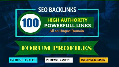 Create 100 Forum Profile Backlinks