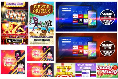 Professional mobile game app banner ads design for app store