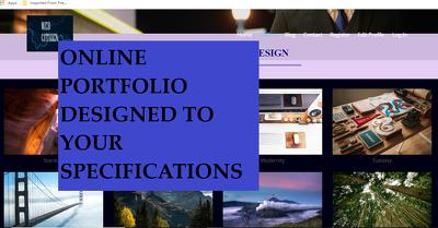 Design the ultimate Online Portfolio for you