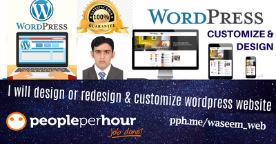 Design or redesign and customize wordpress theme/plugin