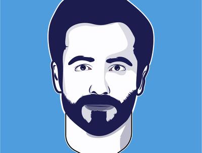 Create minimalist vector cartoon portrait of your picture