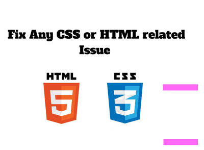Fix any HTML and CSS issues