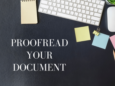 Proofread your document (2000 words)
