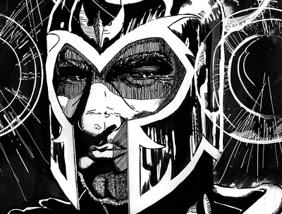 Draw a fully-rendered character portrait in comic style