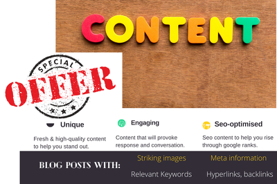Write engaging, SEO blog posts ( upto 1000 words each)