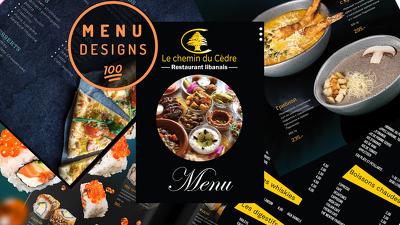 Create a eye catching, stylish & tasty menu
