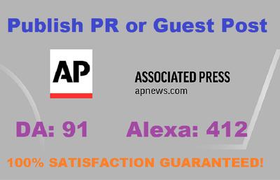 Publish Press Release or Guest Post On APnews.com  DA 91