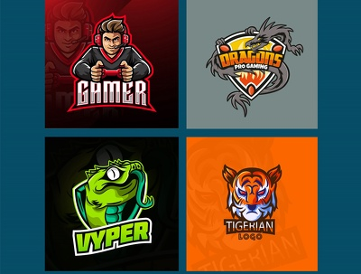 Design gaming, twitch streaming, youtube e sports & cartoon logo