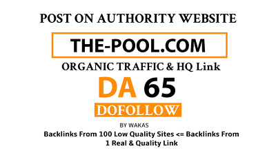 Guest Post on The-Pool – The-Pool.com DA 65 Do Follow Link