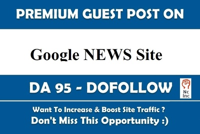 2 Google News Guest Post on DA 57 Site For SEO Rank USA Traffic